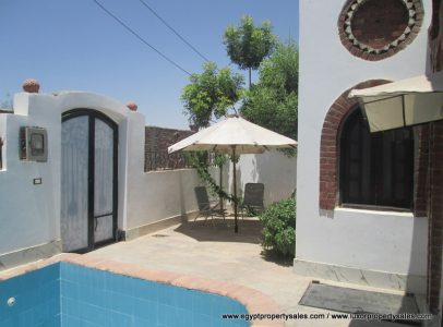 WB1836R Two bedroom bungalow Nubian design with swimming pool for rent in Luxor