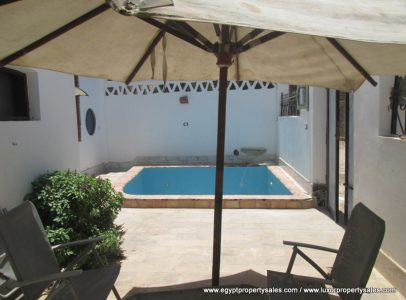 WB1836S Tow bedrooms house with swimming pool in West Bank of Luxor.