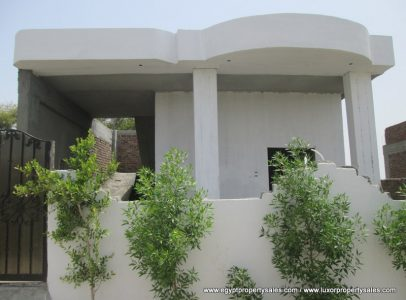 WB1834S Unfinished one storey house for sale in West Bank of Luxor city