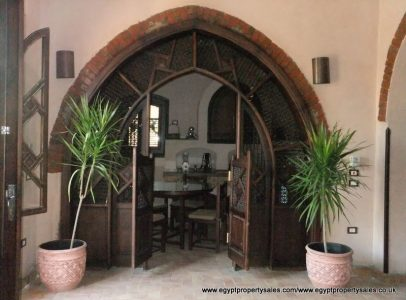 WB1810R Stunning Nubian design villa Nile front with swimming pool in Luxor
