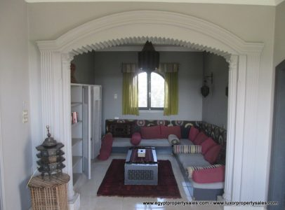 WB1827S Two storeys house with garden for sale in Luxor facing Sonesta Hotel