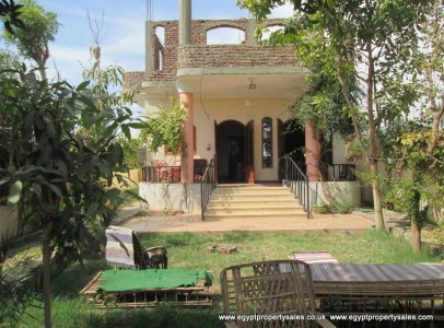 WB0909S Two story villa for sale Nile view in Luxor