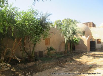 WB1868S Egyptian style dome bungalow house for sale with views Kings Valley in Luxor