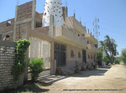 WB1929S Partially finished palatial building for sale West bank Luxor