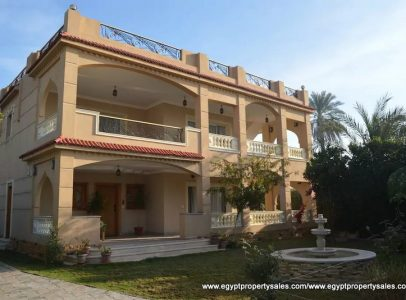 EB1806S Luxurious Nile front villa with swimming pool in Luxor