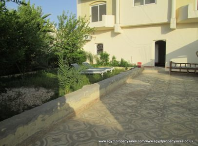 WB1857S Three storeys villa with nice garden for sale in West Bank of Luxor