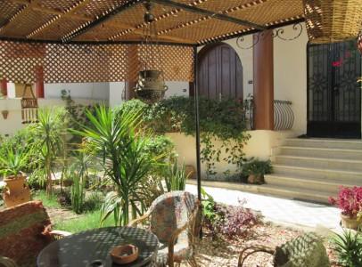 WB026S Ground floor two bedroom garden apt in Villa Bahri Tod West Bank Luxor