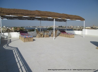 WB2404R Ground floor 1 bed apartments for rent in Luxor Nile view