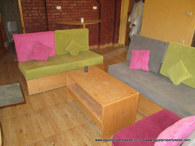 WB101r One bedroom ground floor apartment for rent in Luxor