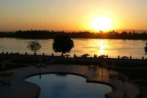 Luxor-sunset-from-our-resort-in-Luxor