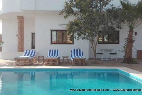WB1905S Modern style villa in Egypt for sale with booking in Luxor city