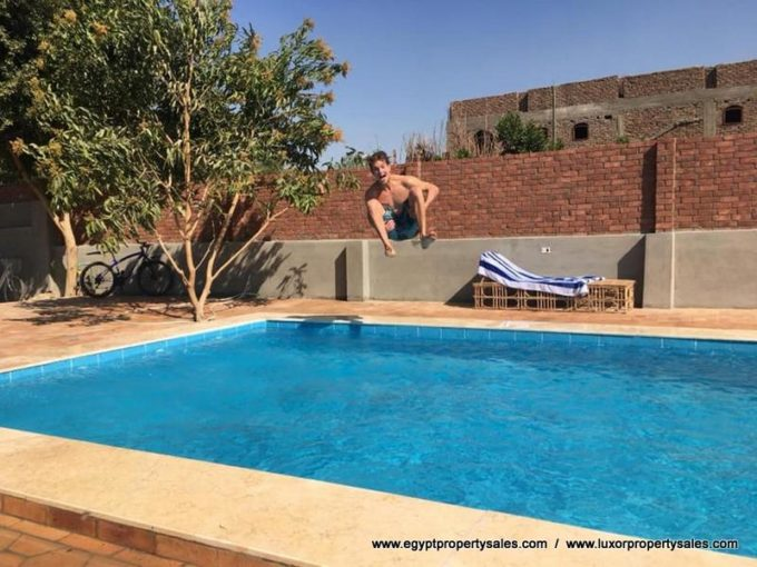 villa for sale in luxor with swimming pool