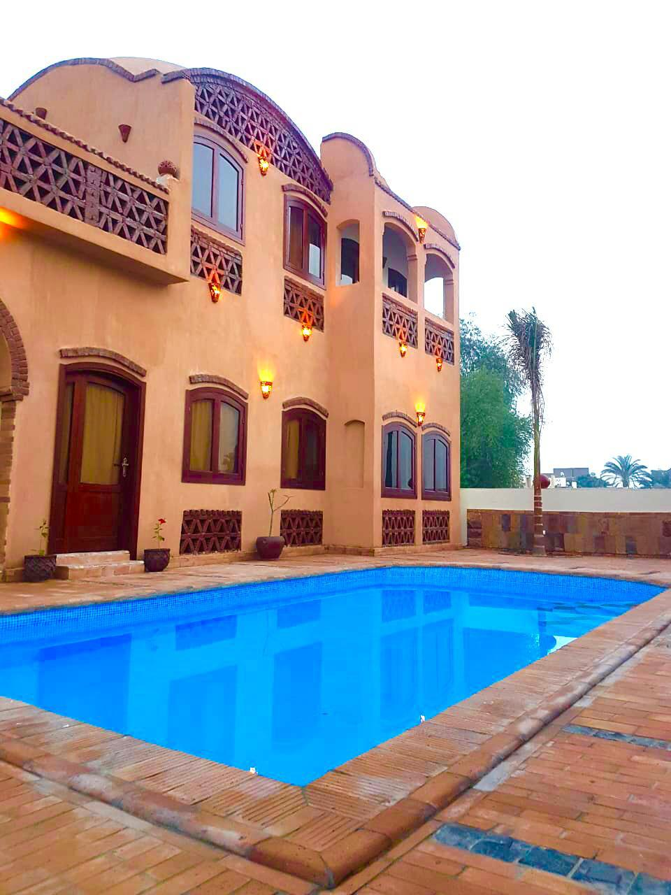 wb2130 R\S Nubian style villa furnished For Rent or for sale in luxor in Ramla